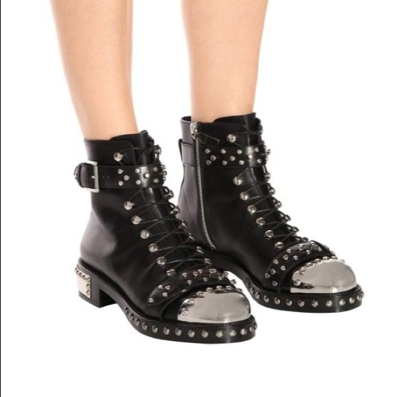 alexander mcqueen chaussures bottes | | nib hobnail hobnail nib poshmark métal a45d3c